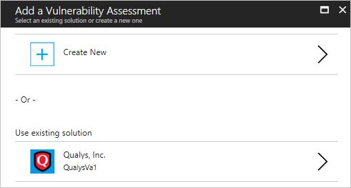 Vulnerability assessment in Azure Security Center