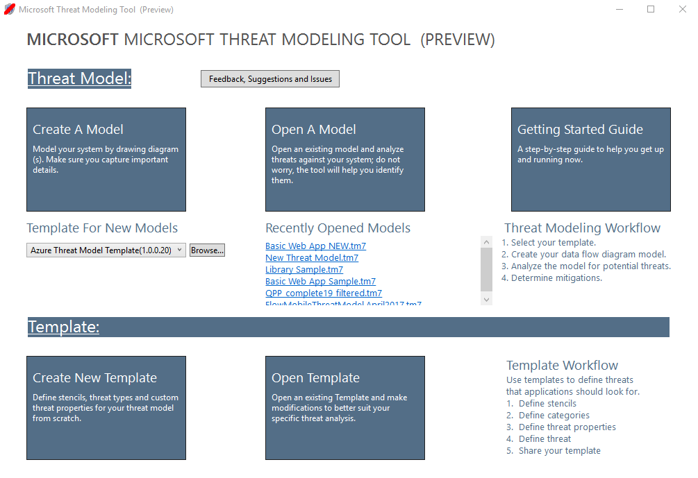 Getting Started - Microsoft Threat Modeling Tool - Azure