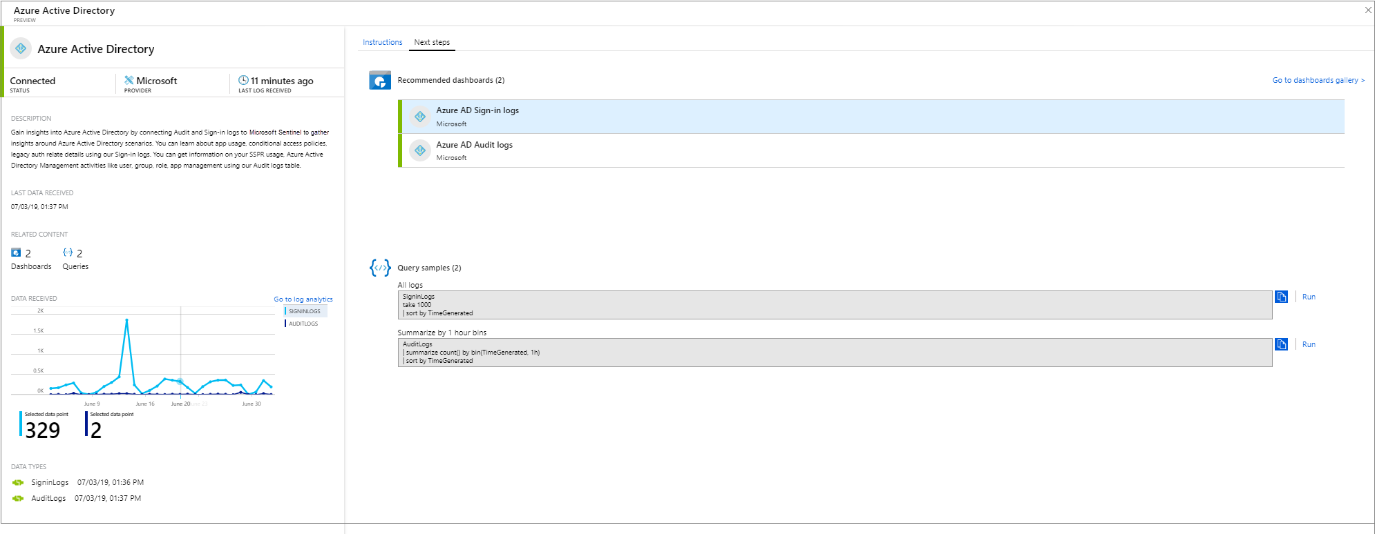Connect data sources to Azure Sentinel Preview? | Microsoft Docs