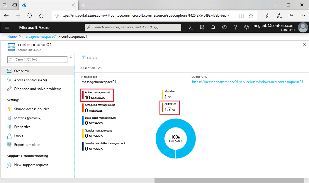 Get started with Azure Service Bus queues | Microsoft Docs