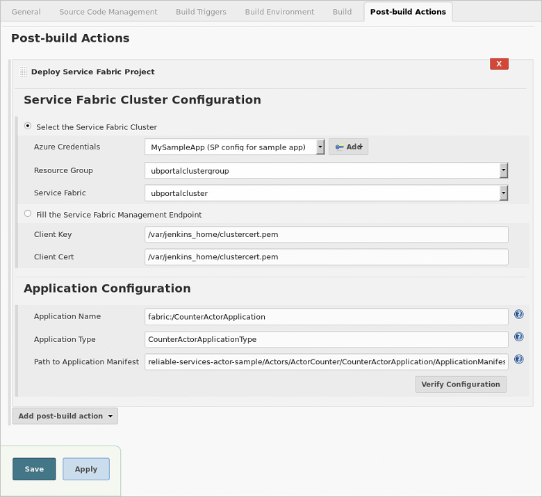 Continuous build and integration for your Azure Service Fabric Linux