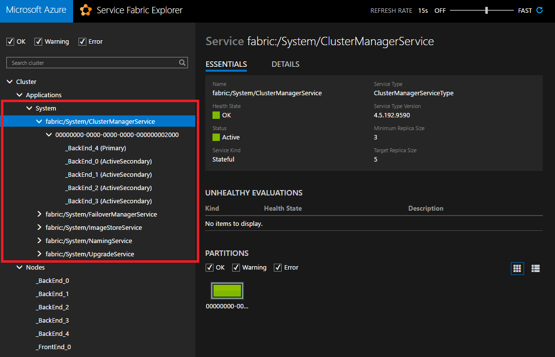 Planning the Service Fabric cluster capacity | Microsoft Docs