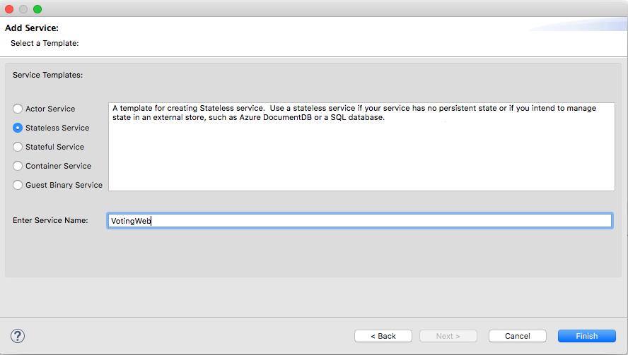 Tutorial: Create a Java app on Azure Service Fabric