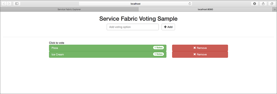 Create a java application for service fabric microsoft docs voting app local urtaz Choice Image