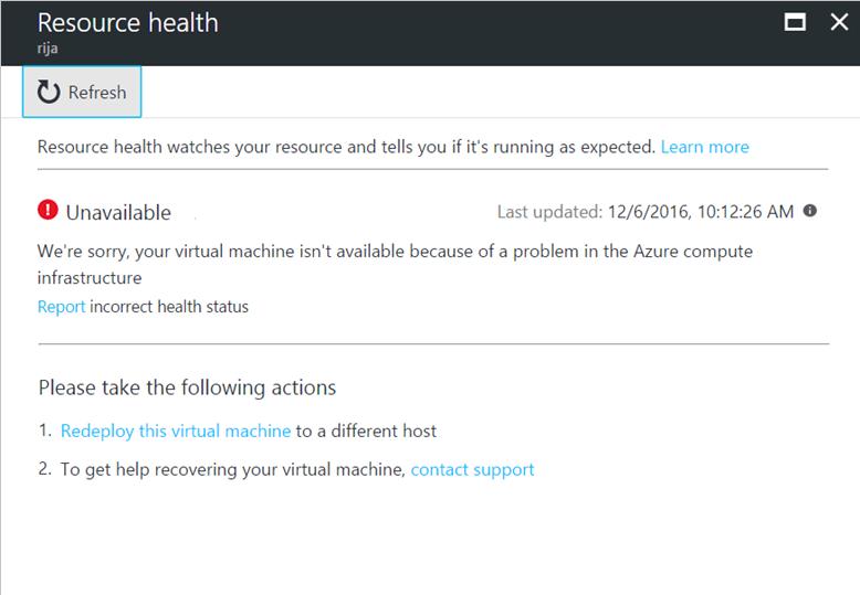 Azure Resource Health overview   Microsoft Docs