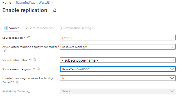 Set up disaster recovery for Azure VMs to a secondary Azure