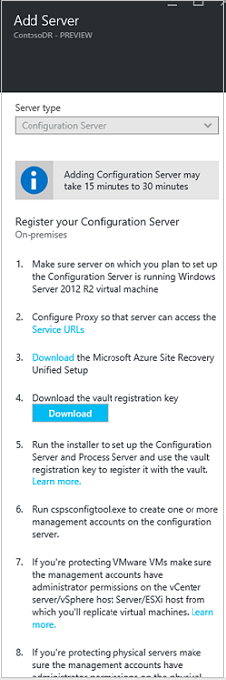 Set up disaster recovery to Azure for physical on-premises