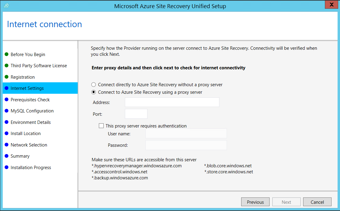 Manage the configuration server for disaster recovery of on-premises