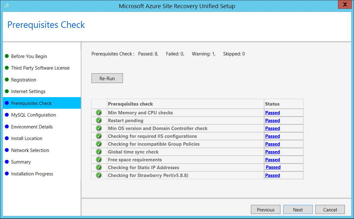Manage the configuration server for disaster recovery of on