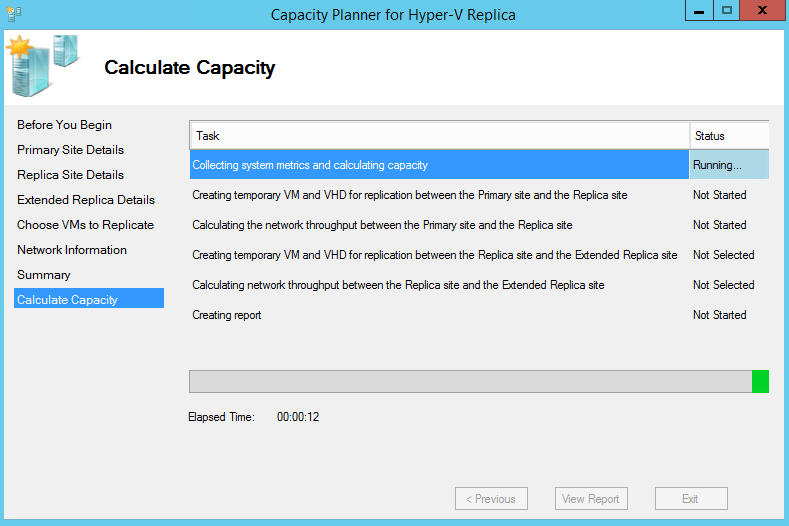 Hyper v capacity planner tool for azure site recovery for Free website planning tool