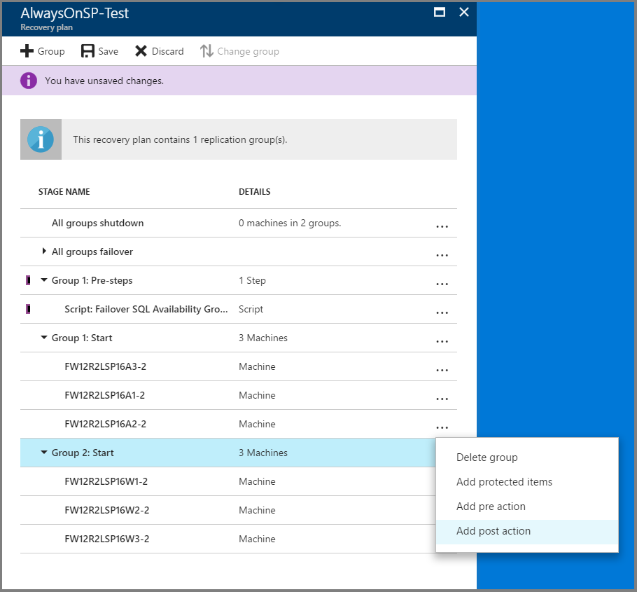 Set up disaster recovery for a multi-tier SharePoint application