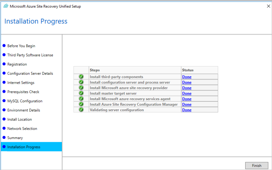 Manage the configuration server for VMware and physical server