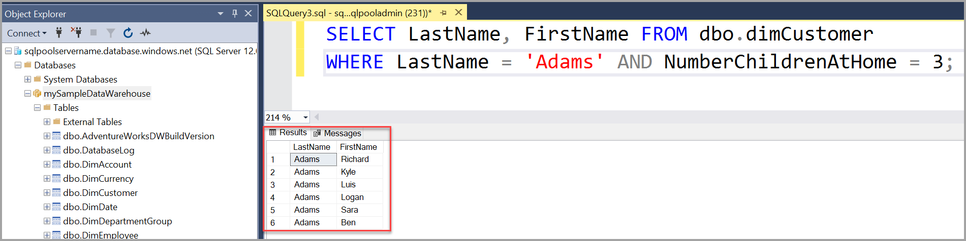 Quickstart: Create and query Azure SQL Data Warehouse