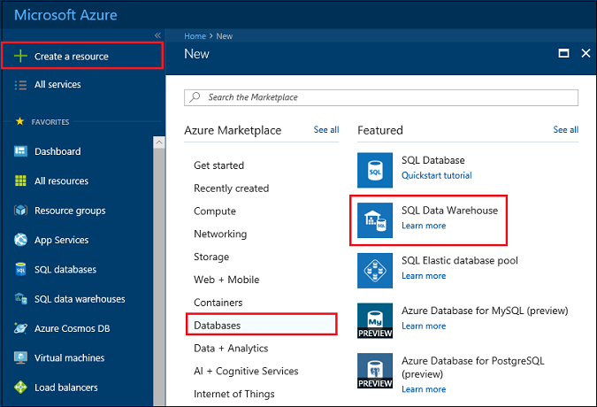 Tutorial: Load New York Taxicab data to Azure SQL Data Warehouse