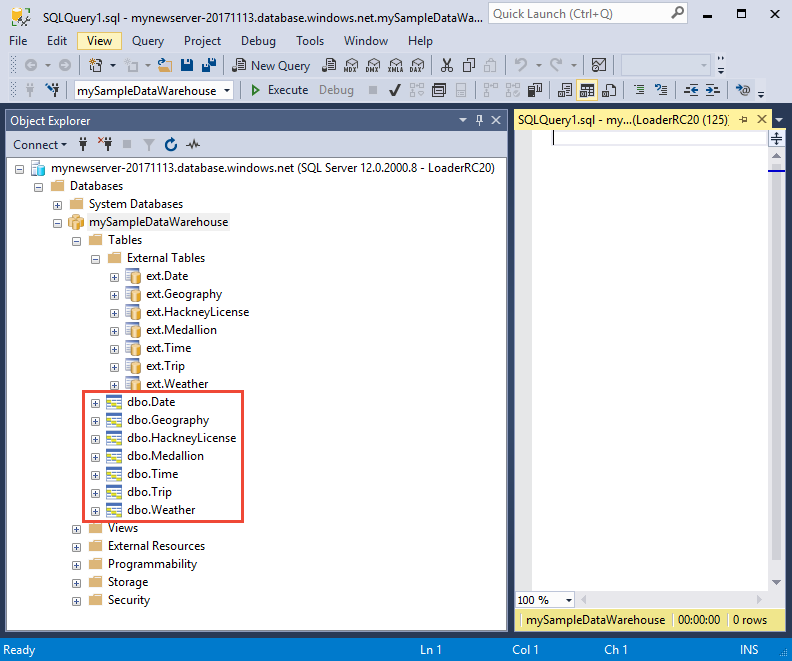 Data Warehouse Etl Developer Resume: Tutorial: Load New York Taxicab Data To Azure SQL Data