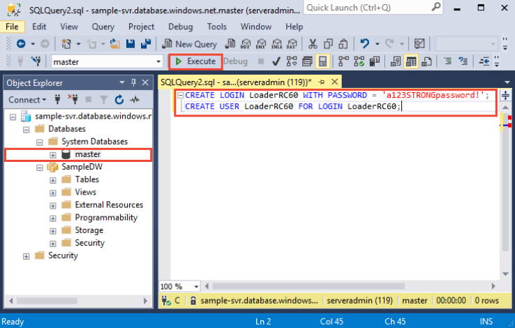Tutorial: Load data to Azure SQL Data Warehouse | Microsoft Docs