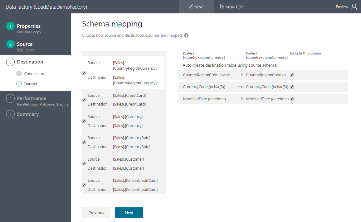 Now you may enter data into your text table - Map Schema