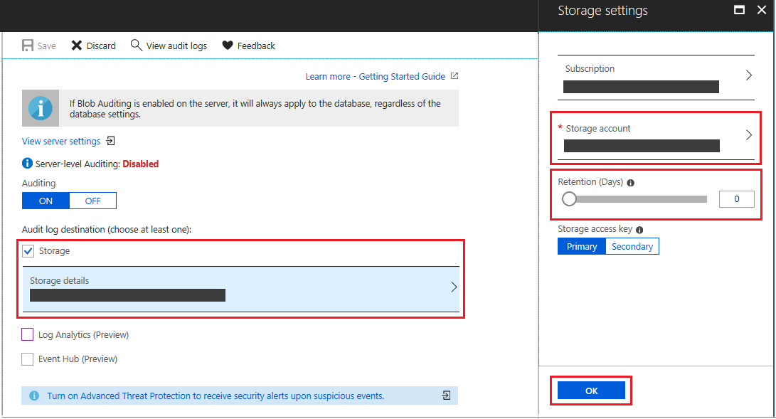 Get started with Azure SQL database auditing | Microsoft Docs