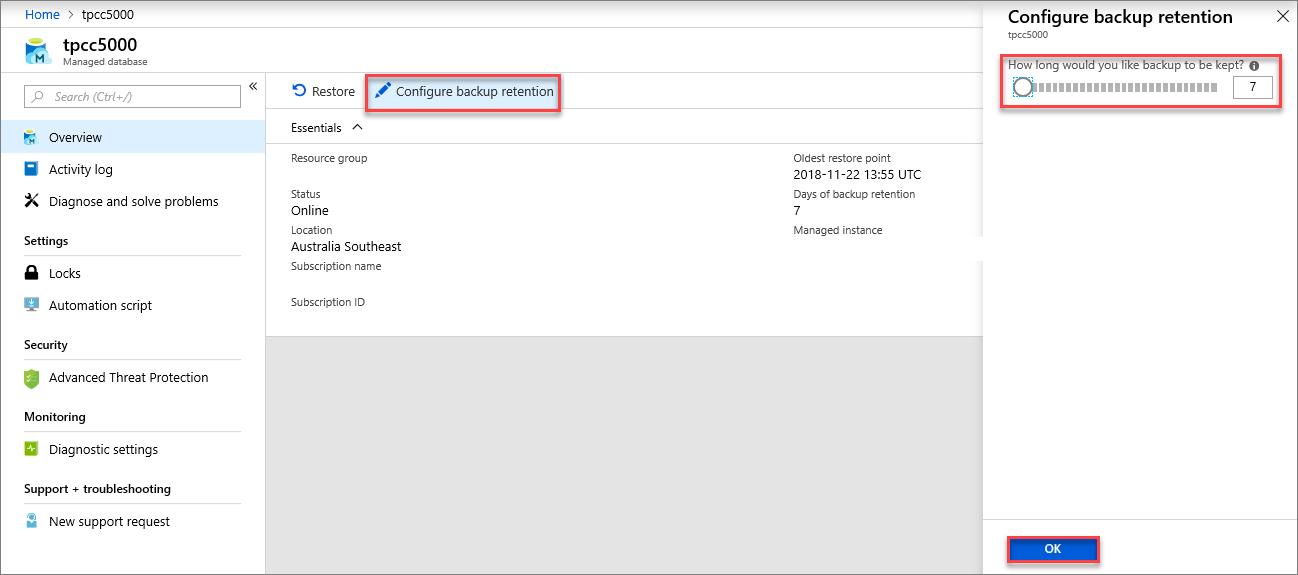 Azure SQL Database automatic, geo-redundant backups