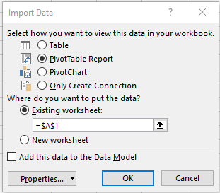 Connect Excel to a single database in Azure SQL Database