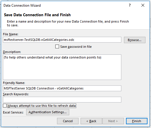 Connect Excel to a single database in Azure SQL Database | Microsoft