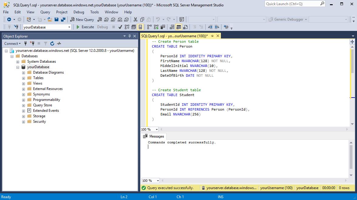 Design your first Azure SQL database | Microsoft Docs