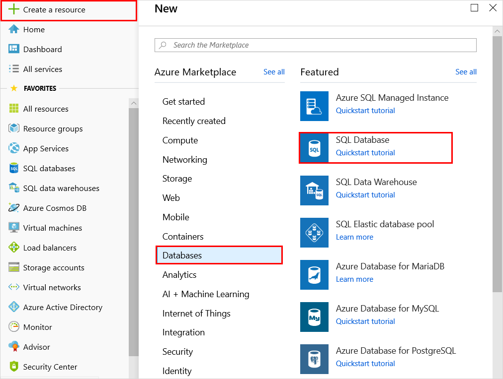 azure portal create a sql database microsoft docs create database 1