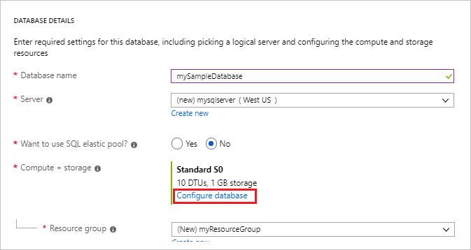 Create a single database - Azure SQL Database | Microsoft Docs