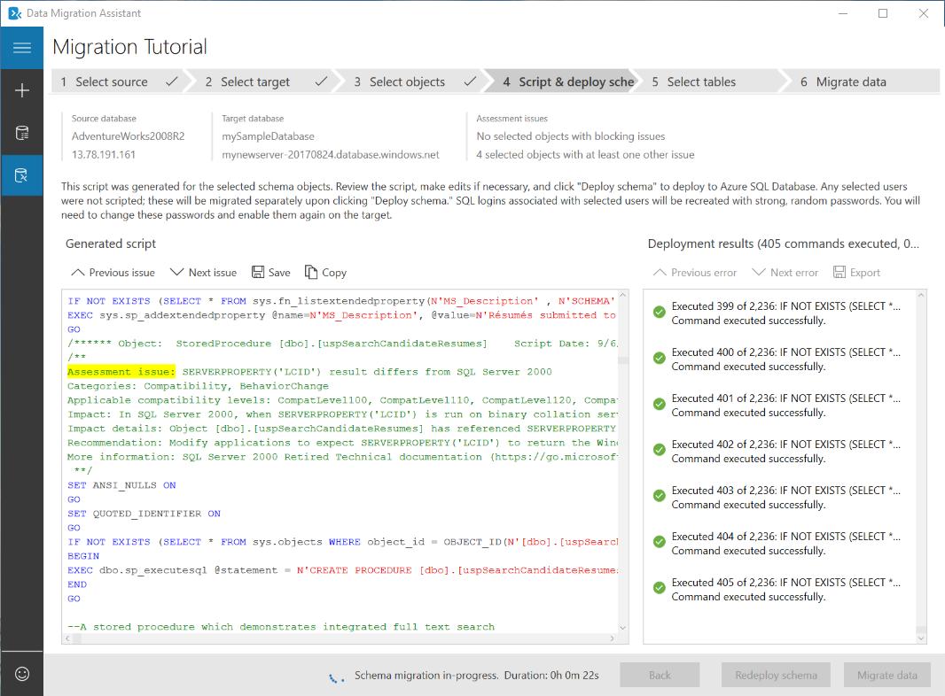 Migrate SQL Server DB to Azure SQL Database using DMA | Microsoft Docs