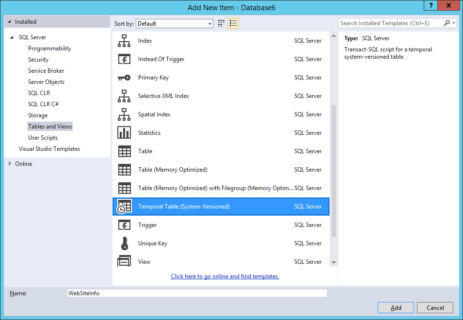 Getting Started with Temporal Tables in Azure SQL Database ...