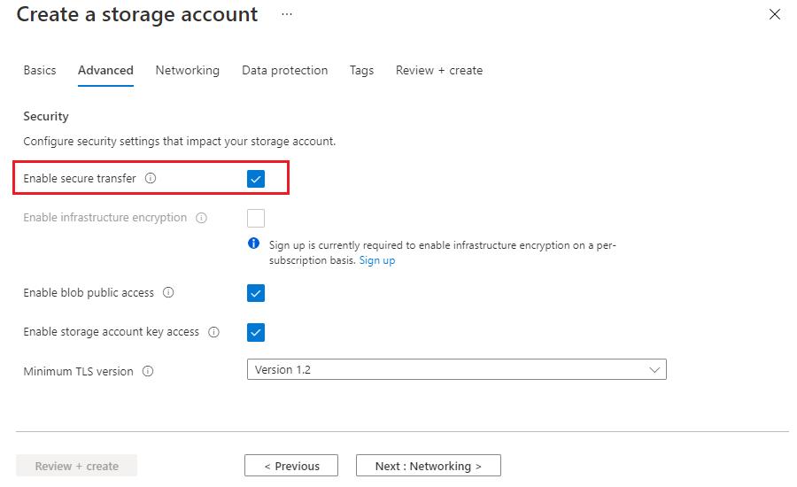 Require secure transfer in Azure Storage   Microsoft Docs