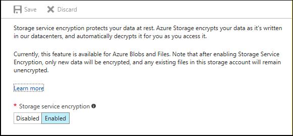 Azure Storage Service Encryption for Data at Rest | Microsoft Docs