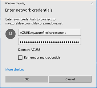 A screenshot of the network credential dialog