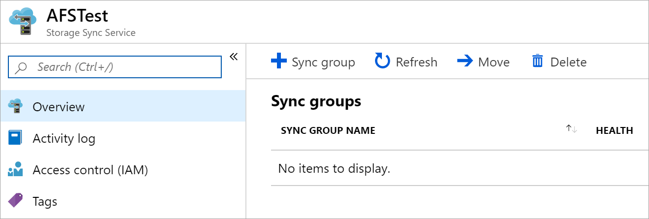 Create a new sync group in the Azure portal