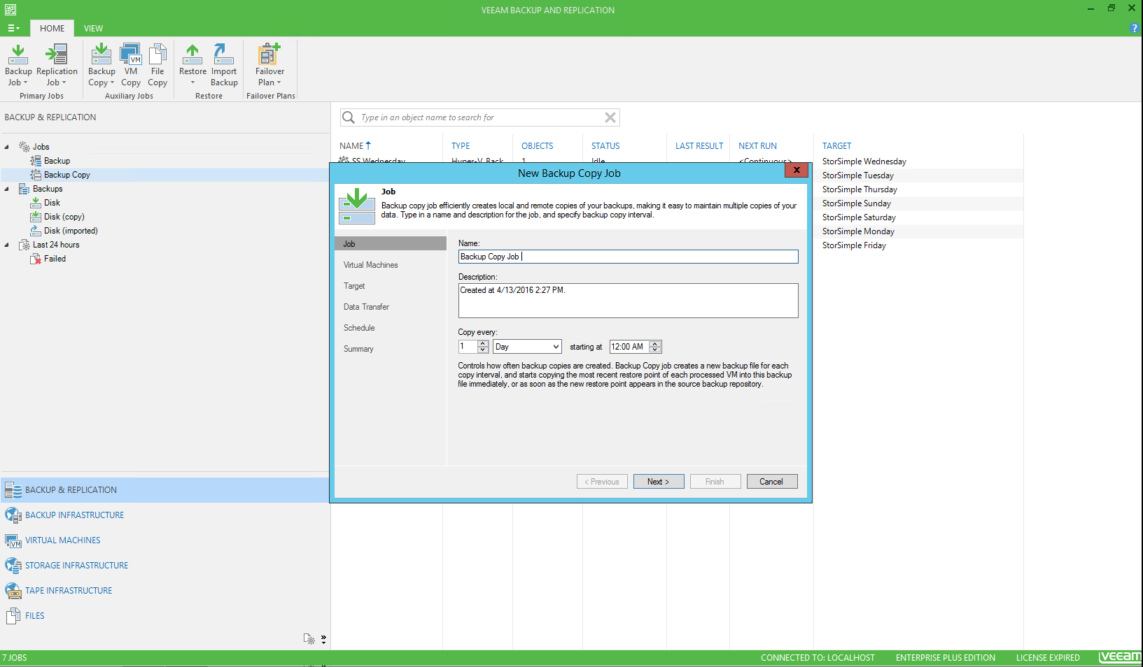 StorSimple 8000 series as backup target with Veeam