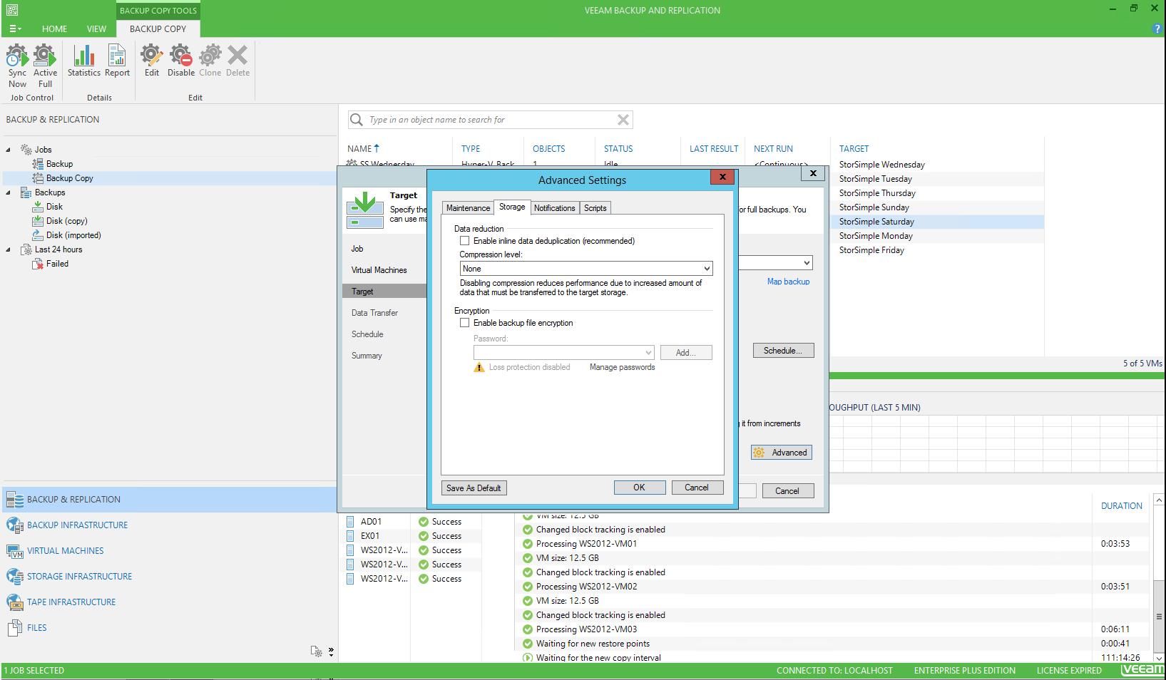 StorSimple 8000 series as backup target with Veeam