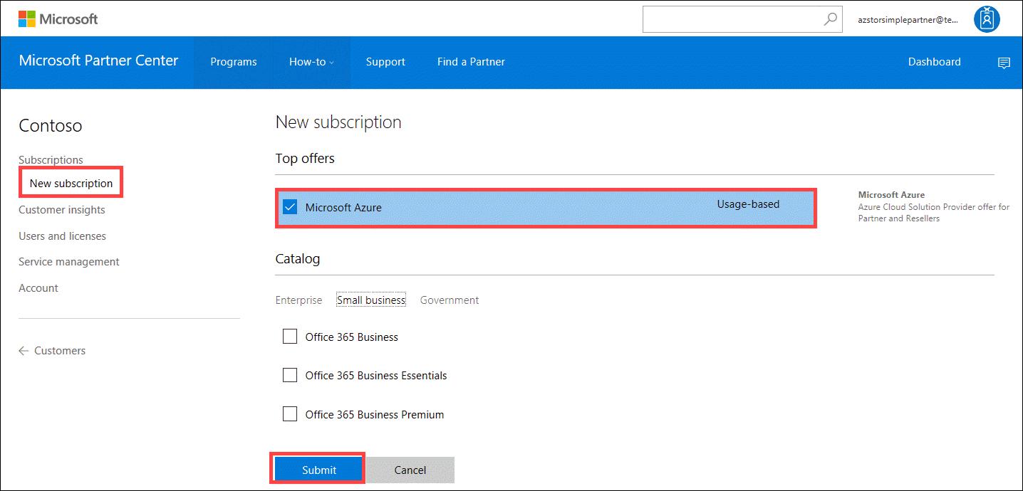 Create An Azure Csp Customer Docs Microsoft Com :: CONTOH TEKS