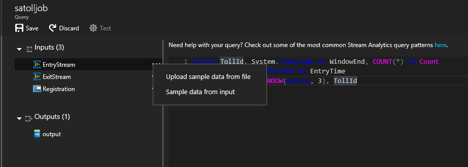screenshot of the entryjson file