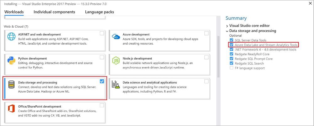 Set up Azure Stream Analytics tools for Visual Studio