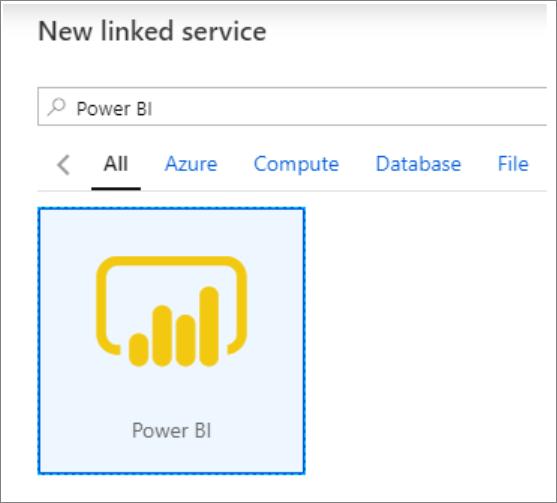 Displaying Power BI linked service.