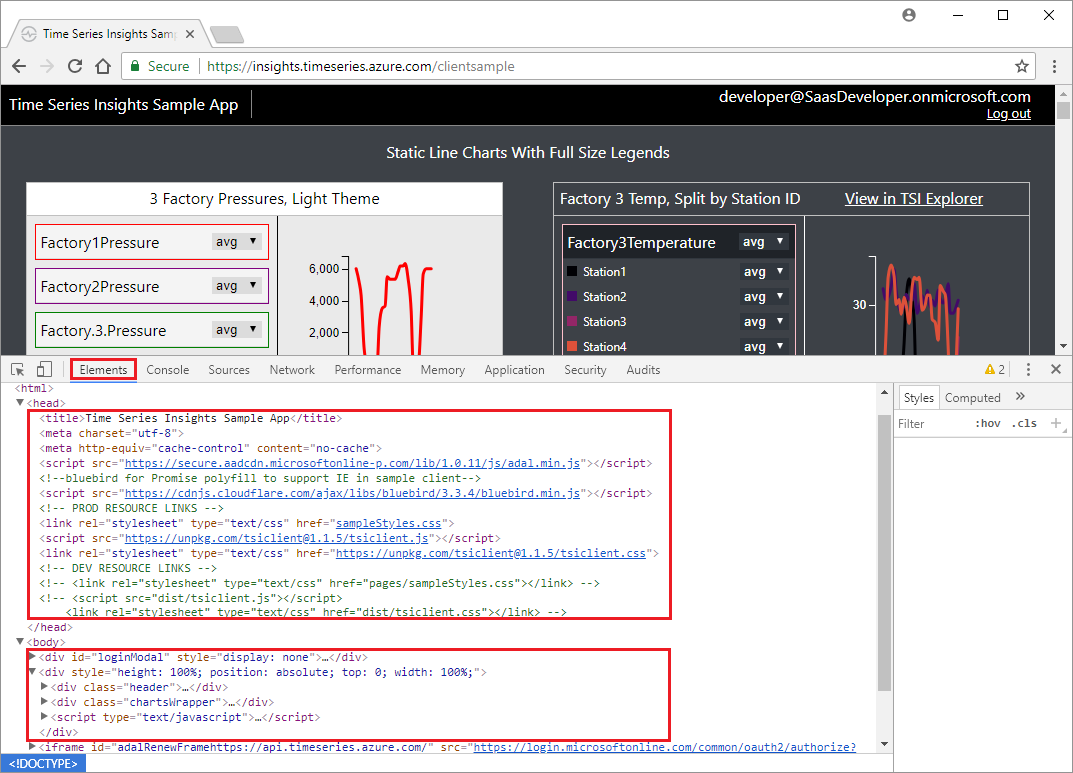 Tutorial: Explore the Azure Time Series Insights JavaScript client