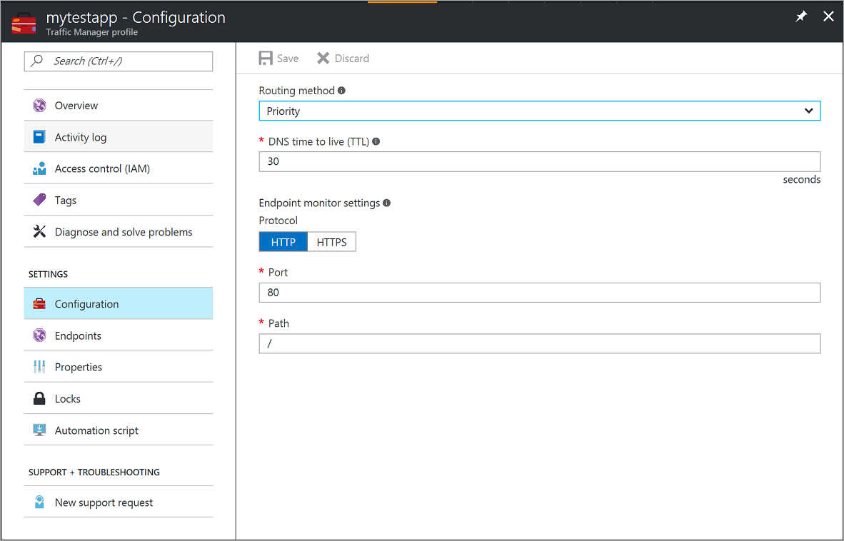 Configuring Priority Traffic Routing Method Using Traffic Manager Configure  Priority Traffic Routing Method Using Azure Traffic