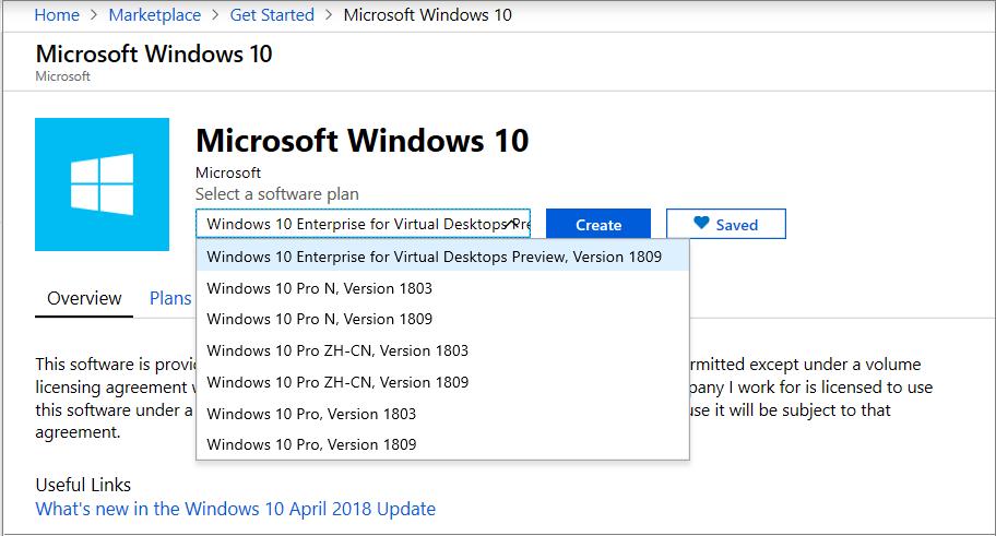 Windows Virtual Desktop tenant and host pool creation