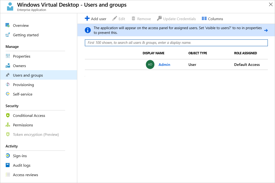 Create a tenant in Windows Virtual Desktop Preview - Azure