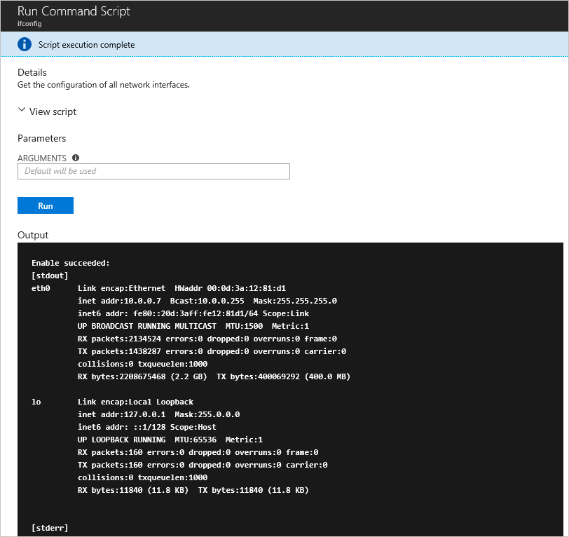 Run shell scripts in an Linux VM on Azure | Microsoft Docs