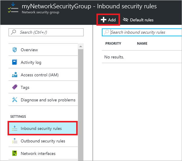 Open Ports To A Vm Using The Azure Portal