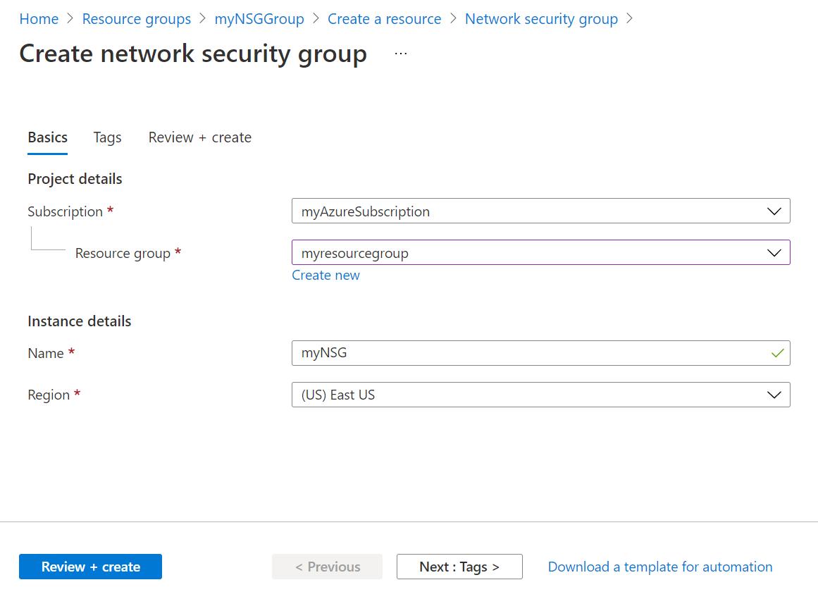 Open ports to a VM using the Azure portal   Microsoft Docs
