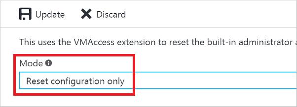 Reset RDP configuration