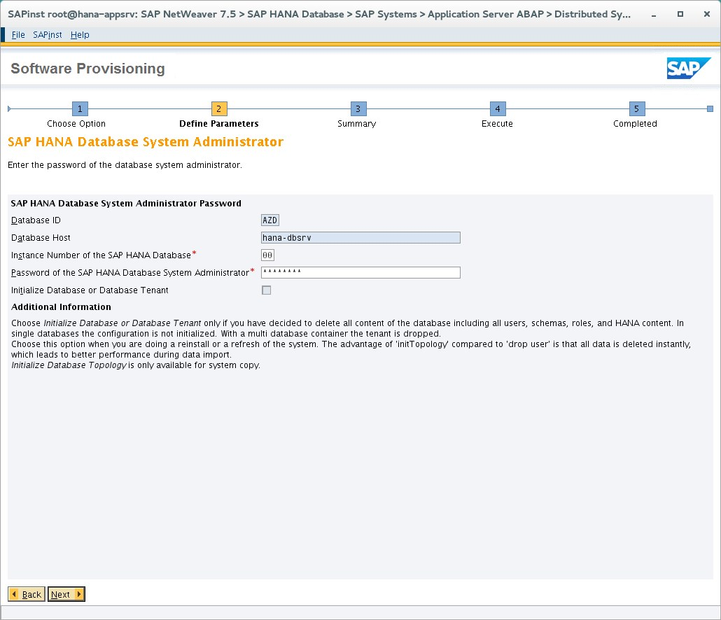 Quickstart: Manual installation of single-instance SAP HANA