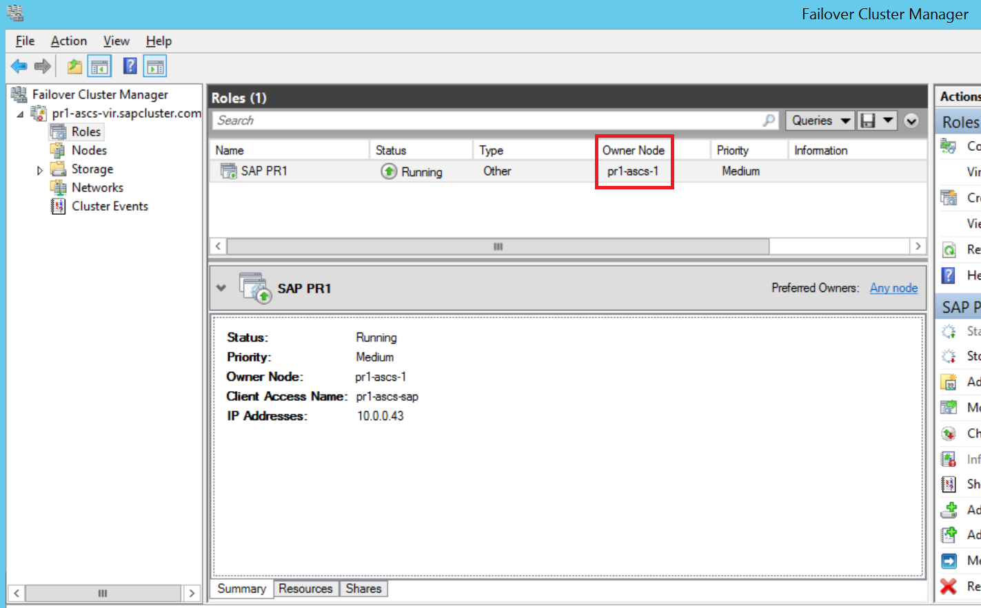 Install SAP NetWeaver HA on a Windows failover cluster and shared
